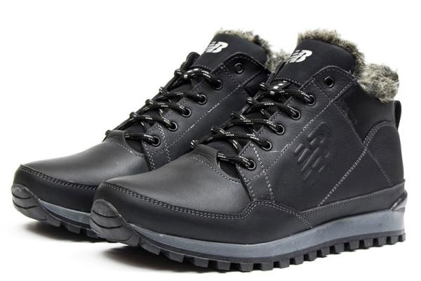 Мужские ботинки на меху New Balance черные