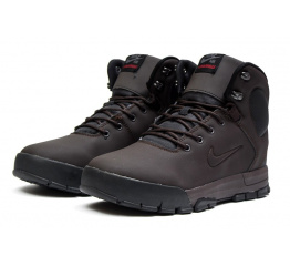 Мужские ботинки на меху Nike ACG Air Nevist коричневые