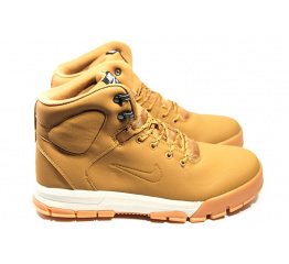 Мужские ботинки на меху Nike ACG Air Nevist светло-коричневые