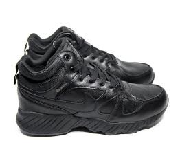 Мужские высокие кроссовки на меху Nike Air черные