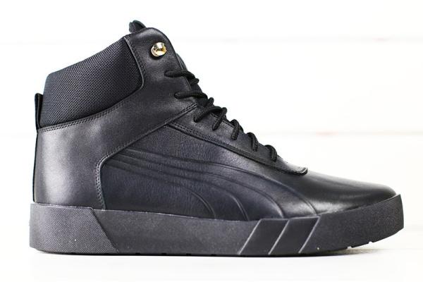 Мужские ботинки на меху Puma черные