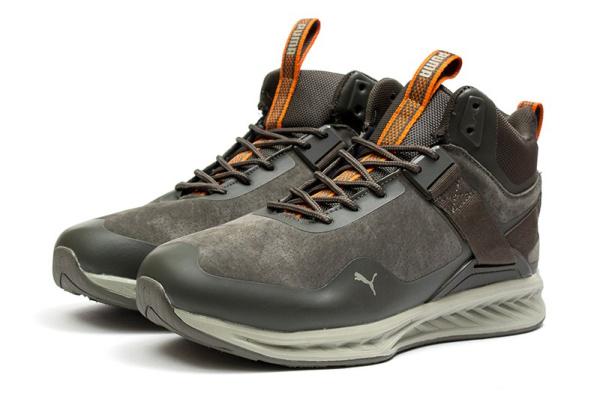 Мужские ботинки на меху Puma Ignite High Top хаки