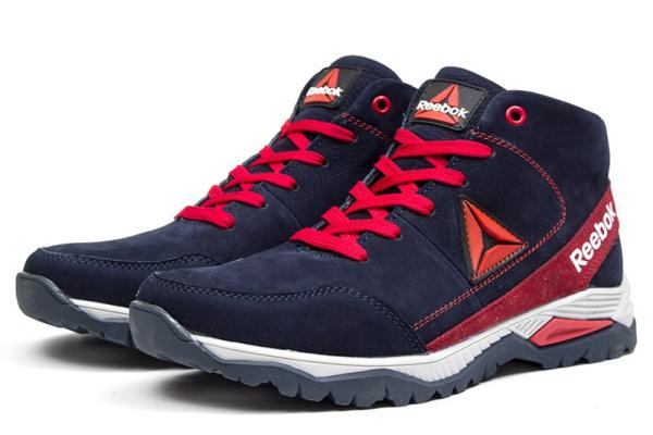 Мужские ботинки на меху Reebok темно-синие