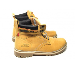 Мужские ботинки на меху Switzerland светло-коричневые