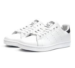 Купить Чоловічі кросівки Adidas Stan Smith білі з чорним