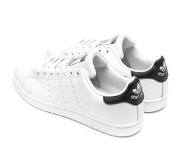 Купить Чоловічі кросівки Adidas Stan Smith білі з чорним в Украине