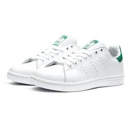 Купить Жіночі кросівки Adidas Stan Smith білі з зеленим