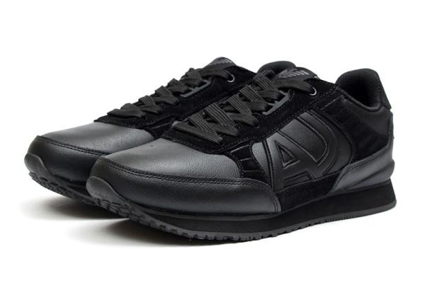 Мужские кроссовки Armani Jeans черные