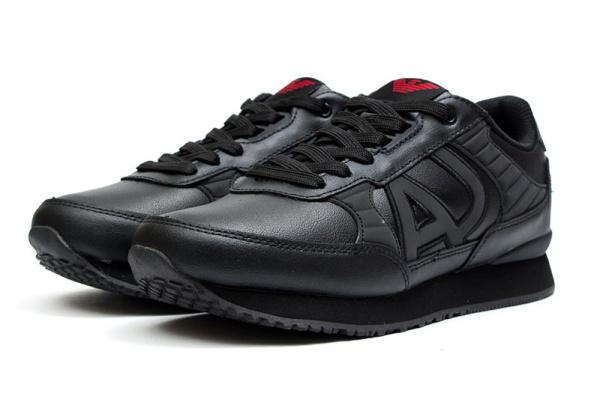 Мужские кроссовки Armani Jeans черные с красным