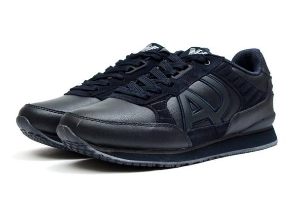 Мужские кроссовки Armani Jeans темно-синие