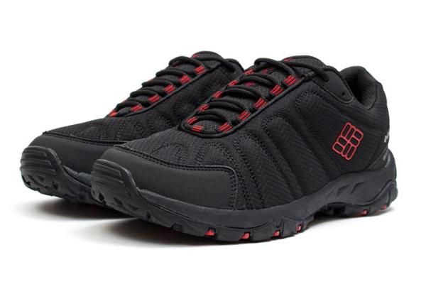 Мужские кроссовки для активного отдыха Columbia черные с красным