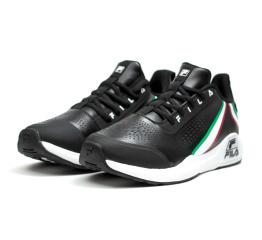 Купить Мужские кроссовки Fila черные с белым