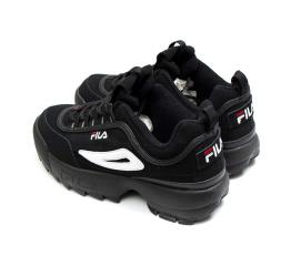 Купить Жіночі кросівки Fila Disruptor II чорні в Украине