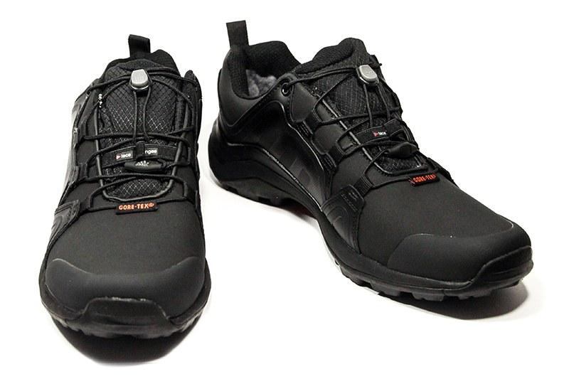 11625b32 Мужские кроссовки на меху Adidas Terrex Swift R Pro черные с оранжевым
