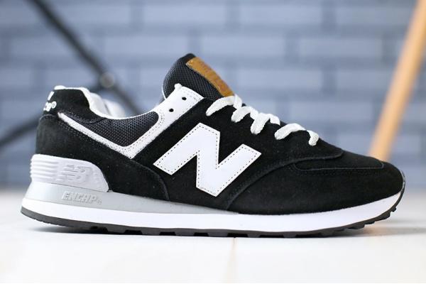 Мужские кроссовки New Balance 574 черные с белым