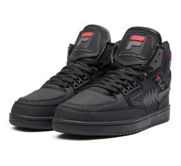 Мужские высокие кроссовки на меху Fila Tourrisimo черные