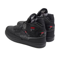 Купить Чоловічі високі кросівки зимові Fila Tourrisimo чорні в Украине