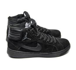 Мужские высокие кроссовки на меху Nike Air Jordan Sky High черные