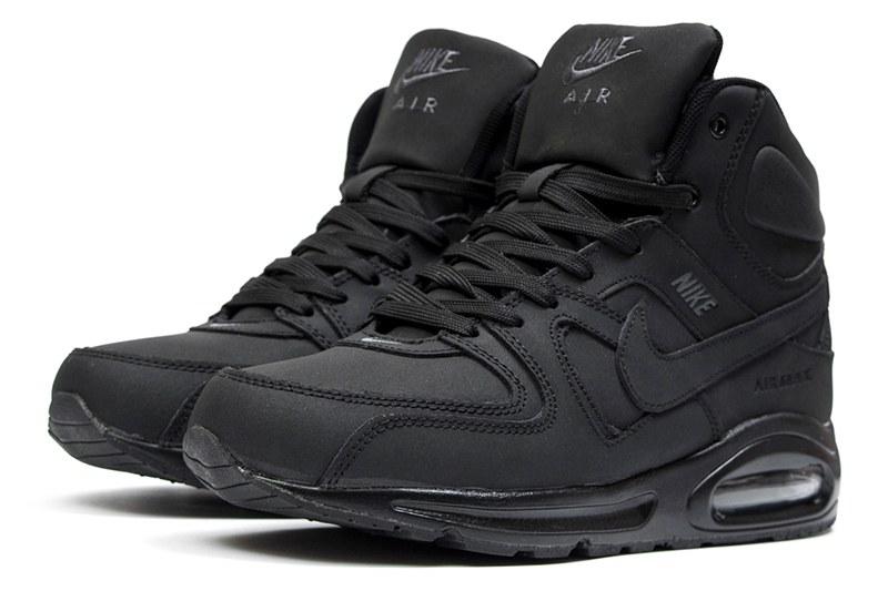 54131950 Мужские высокие кроссовки на меху Nike Air Max Command High Top черные
