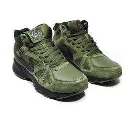 Мужские высокие кроссовки на меху Nike Air Max хаки