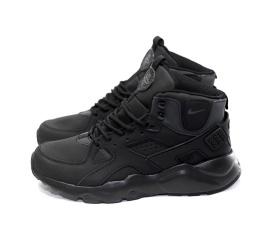 Купить Чоловічі високі кросівки Nike Air Huarache High Top чорні в Украине