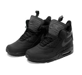 Купить Мужские высокие кроссовки Nike Air Max 90 High-Top черные в Украине