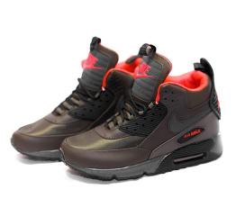 Купить Мужские высокие кроссовки Nike Air Max 90 High-Top коричневые