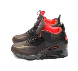 Купить Мужские высокие кроссовки Nike Air Max 90 High-Top коричневые в Украине