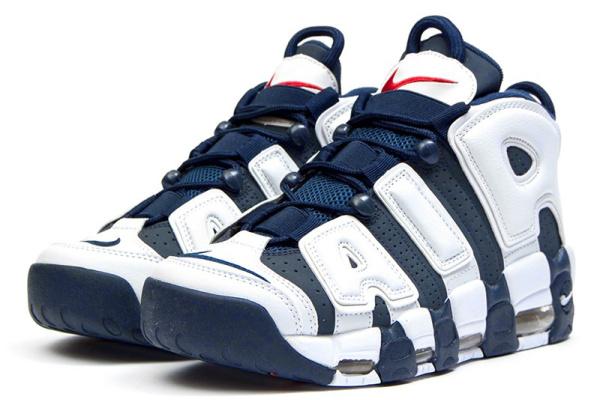 Мужские высокие кроссовки Nike Air More Uptempo '96 Premium темно-синие