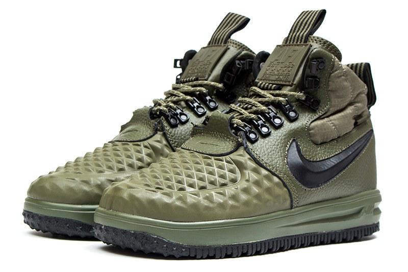 4bb2584e Nike (Найк) кроссовки Lunar Force 1 Duckboot '17 хаки купить   ASPOLO