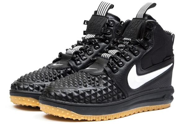 Мужские высокие кроссовки Nike Lunar Force 1 Duckboot '17 Thermo черные с белым