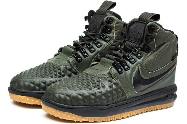 Мужские высокие кроссовки Nike Lunar Force 1 Duckboot '17 Thermo хаки