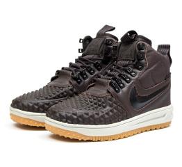 Мужские высокие кроссовки Nike Lunar Force 1 Duckboot '17 Thermo коричневые