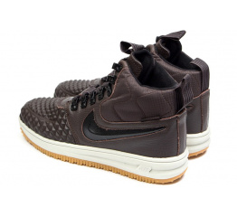 Купить Чоловічі високі кросівки Nike Lunar Force 1 Duckboot '17 Thermo коричневі в Украине
