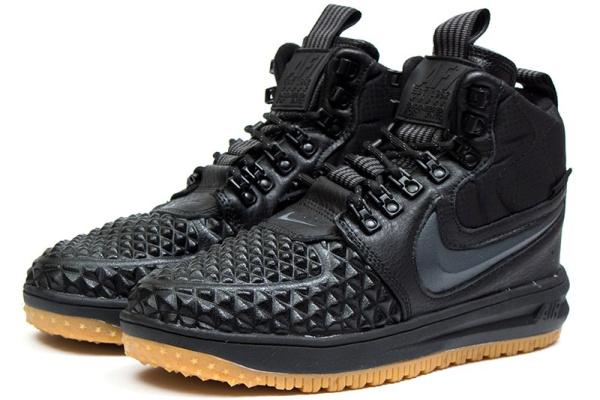 Мужские высокие кроссовки Nike Lunar Force 1 Duckboot '17 Thermo темно-серые