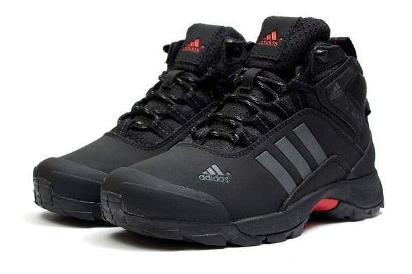 Женские ботинки на меху Adidas Climaproof High черные с серым