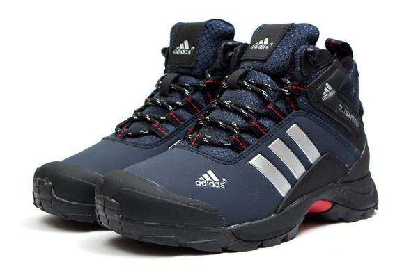 Женские ботинки на меху Adidas Climaproof High темно-синие