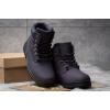 Женские ботинки на меху фиолетовые