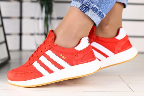 Женские кроссовки Adidas Iniki Runner красные