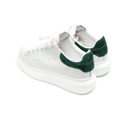 Женские кроссовки Alexander McQueen Oversized Sole Low Sneaker белые с зеленым