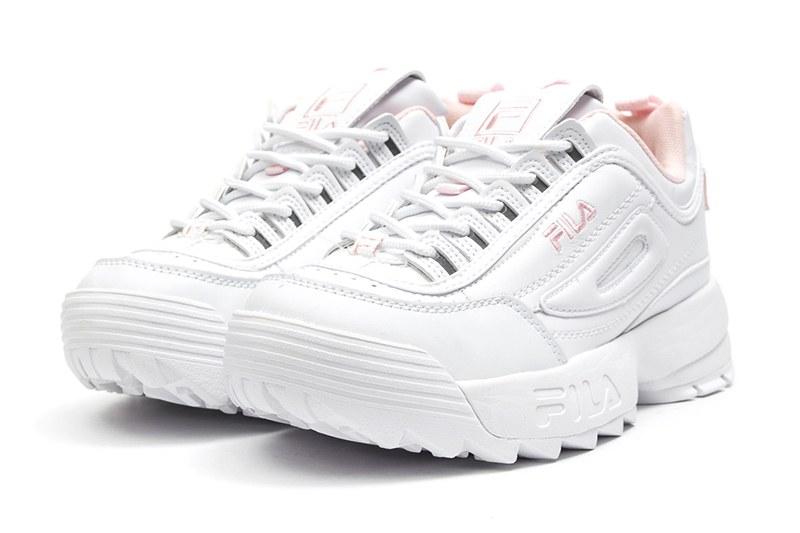 a1d84a3d Fila (Фила) кроссовки Disruptor II белые с розовым купить   ASPOLO