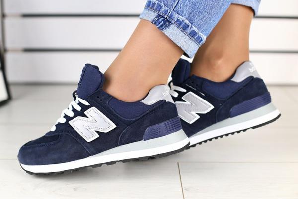 Женские кроссовки New Balance 574 темно-синие