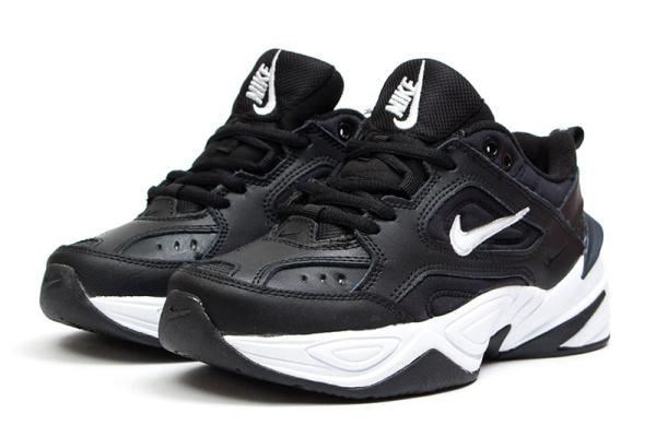 Женские кроссовки Nike M2K Tekno черные с белым