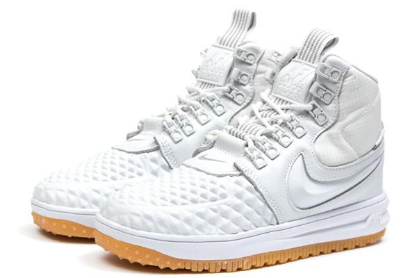 Женские высокие кроссовки Nike Lunar Force 1 Duckboot '17 Thermo белые