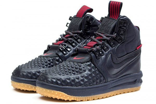 2f27d771 Женские высокие кроссовки Nike Lunar Force 1 Duckboot '17 Thermo темно-синие