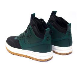 Женские высокие кроссовки Nike Lunar Force 1 Duckboot зеленые