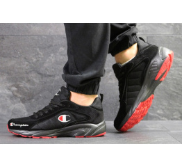Купить Мужские кроссовки Champion черные с красным