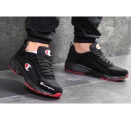 Мужские кроссовки Champion черные с красным