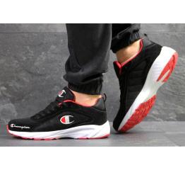Мужские кроссовки Champion черные с белым и красным