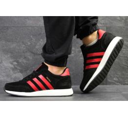 Купить Мужские кроссовки Adidas Iniki черные с красным